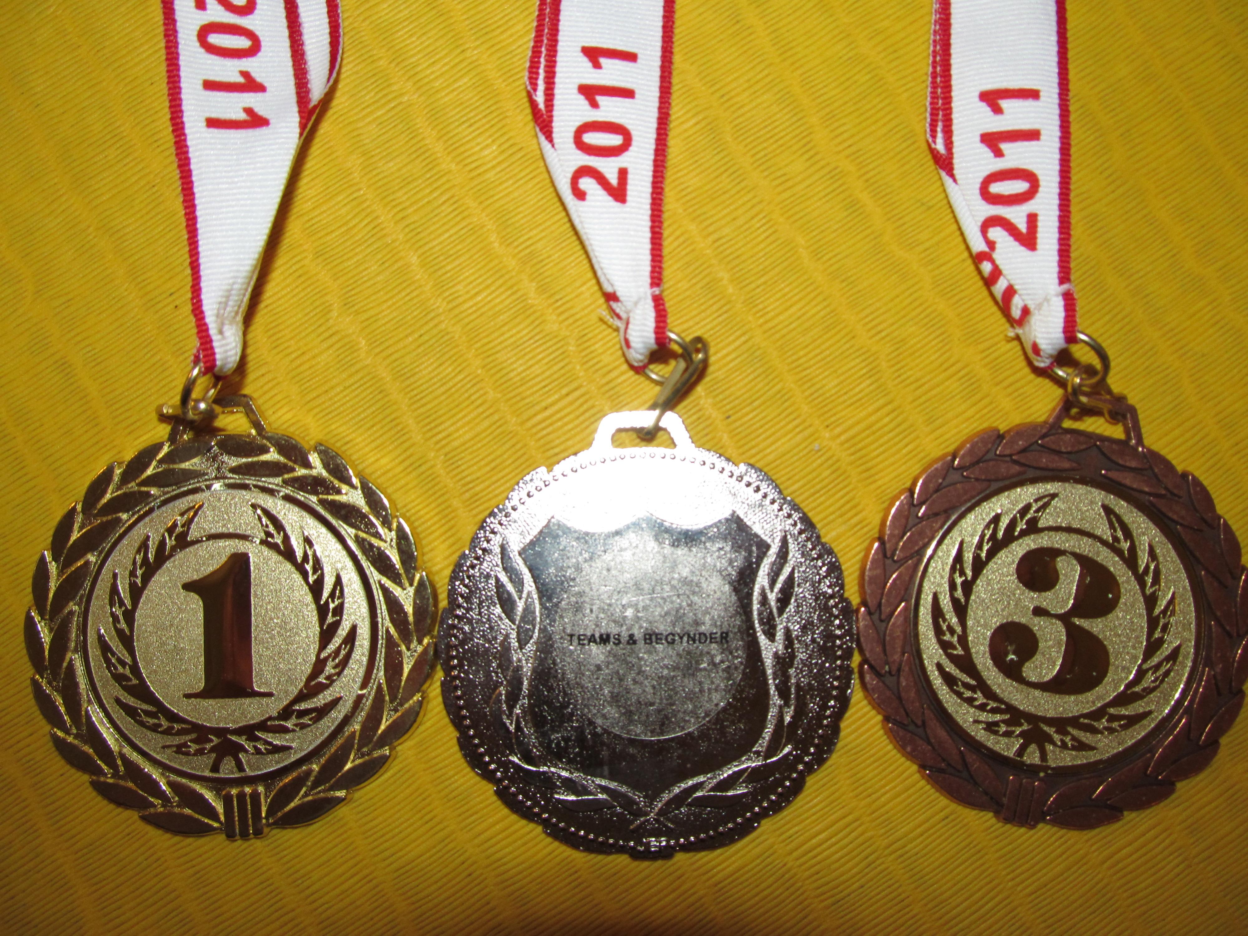 Medaljer til Danish Team og Begynder konkurrencen 2011